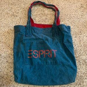 Vintage 90s Esprit Canvas Tote Bag